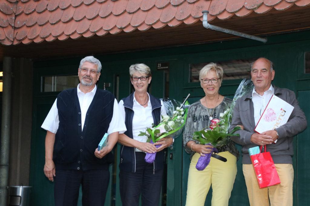 Dietmar und Ingrid Märtens (links) und Erwin und Ingried Meyer