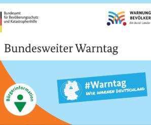 Bundesweiter Warntag am 10. September!